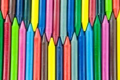 De kleurpotloden van de was. Royalty-vrije Stock Afbeelding