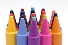 De Kleurpotloden van de was Stock Fotografie