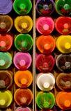 De kleurpotloden van de was Stock Afbeelding