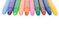 De kleurpotloden van de was Royalty-vrije Stock Foto