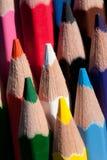 De kleurpotloden van het potlood Stock Foto