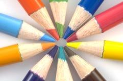 De Kleurpotloden van het potlood stock fotografie