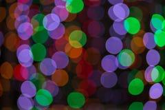 De kleurrijke abstracte achtergrond van Bokeh Stock Afbeeldingen