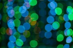 De kleurrijke abstracte achtergrond van Bokeh Stock Foto