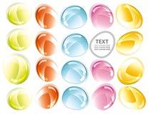 De kleurrijke abstracte achtergrond van de glasvorm Stock Fotografie