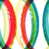 De kleurrijke abstracte achtergrond van de waterverfborstel, vector naadloos h Stock Afbeeldingen