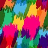 De kleurrijke abstracte achtergrond van de waterverfborstel, vector naadloos p Stock Foto's
