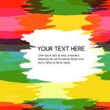 De kleurrijke abstracte achtergrond van de waterverfborstel, vector naadloos p Stock Afbeeldingen