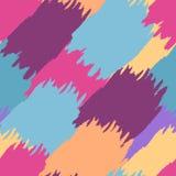 De kleurrijke abstracte achtergrond van de waterverfborstel, vector naadloos p Stock Foto
