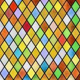 De kleurrijke abstracte achtergrond van het gebrandschilderd glasvenster Royalty-vrije Stock Afbeeldingen