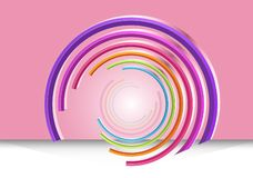 De kleurrijke abstracte achtergrond van technologiecirkels vector illustratie