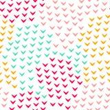 De kleurrijke abstracte eenvoudige hoek geeft geometrisch naadloos patroon, vector gestalte Stock Foto's