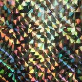 De kleurrijke abstracte holografische grungeachtergrond met schaaft en krast Stock Foto's