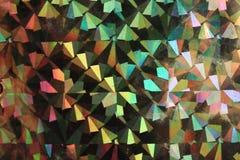 De kleurrijke abstracte holografische grungeachtergrond met schaaft en krast Stock Afbeeldingen