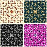 De kleurrijke abstracte inzameling van bloembloemblaadjes van vectorillustratie Stock Afbeeldingen
