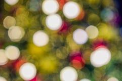 De kleurrijke achtergrond van bokehkerstmis royalty-vrije stock foto