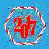 De kleurrijke Achtergrond van Confettienkerstmis stock illustratie