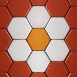 De kleurrijke achtergrond van de bakstenenvloer Stock Afbeelding
