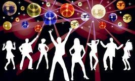 De kleurrijke Achtergrond van de Disco Royalty-vrije Stock Afbeelding