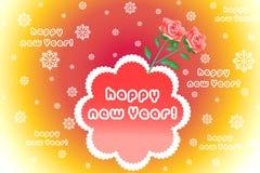 De kleurrijke achtergrond van de groetkaart met bloemenpatroon, sneeuwvlok - eps10-illustratie Stock Foto