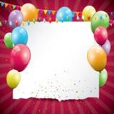 De kleurrijke achtergrond van de Verjaardag royalty-vrije illustratie