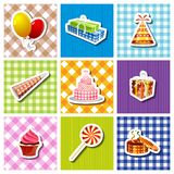 De kleurrijke achtergrond van de Verjaardag Royalty-vrije Stock Foto's