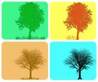 De kleurrijke achtergrond van de vier seizoenen Stock Afbeeldingen