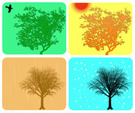 De kleurrijke achtergrond van de vier seizoenen Royalty-vrije Stock Fotografie