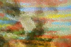 De kleurrijke achtergrond van de vormenpastelkleur Stock Fotografie