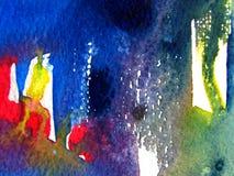 De kleurrijke Achtergrond van de Waterverf Stock Afbeeldingen