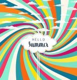 De kleurrijke achtergrond van de zomer vector illustratie