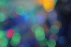 De kleurrijke achtergrond van defocused kleurrijk licht Royalty-vrije Stock Fotografie