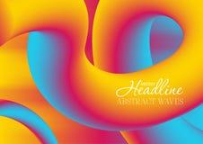 De kleurrijke achtergrond van gradiënt 3d golvende vloeibare vormen royalty-vrije illustratie
