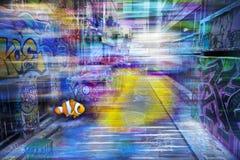 De Kleurrijke Achtergrond van graffitigrunge Royalty-vrije Stock Fotografie
