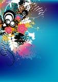 De kleurrijke achtergrond van Grunge stock illustratie