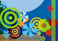 De kleurrijke achtergrond van Grunge, vectorillustratie. Royalty-vrije Stock Foto
