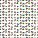 De kleurrijke Achtergrond van het Camera'spatroon stock illustratie