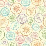 De kleurrijke achtergrond van het cirkels naadloze patroon Royalty-vrije Stock Fotografie