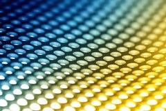 De kleurrijke achtergrond van het metaalblad. Stock Fotografie
