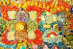 De kleurrijke achtergrond van het mozaïekpatroon Stock Afbeelding
