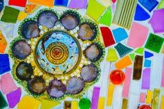 De kleurrijke achtergrond van het mozaïekpatroon Royalty-vrije Stock Foto