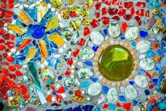 De kleurrijke achtergrond van het mozaïekpatroon Stock Foto's