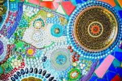 De kleurrijke achtergrond van het mozaïekpatroon Stock Afbeeldingen