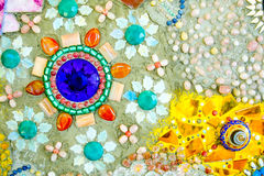 De kleurrijke achtergrond van het mozaïekpatroon Royalty-vrije Stock Foto's