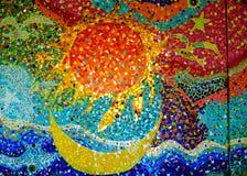 De kleurrijke achtergrond van het mozaïekpatroon Gemaakt van ceramisch Royalty-vrije Stock Foto