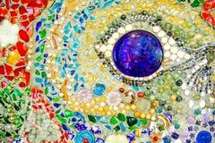 De kleurrijke achtergrond van het mozaïekpatroon Gemaakt van ceramisch Stock Afbeeldingen