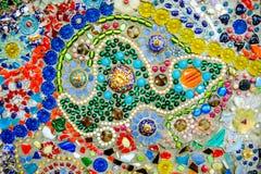 De kleurrijke achtergrond van het mozaïekpatroon Gemaakt van ceramisch Stock Afbeelding