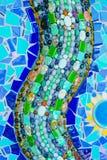 De kleurrijke achtergrond van het mozaïekpatroon Gemaakt van ceramisch Stock Foto