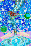 De kleurrijke achtergrond van het mozaïekpatroon Gemaakt van ceramisch Royalty-vrije Stock Fotografie