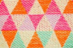 De kleurrijke achtergrond van het stoffenpatroon Royalty-vrije Stock Foto